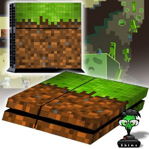 Adesivo para Console Ps4 Fat Minecraft Texture