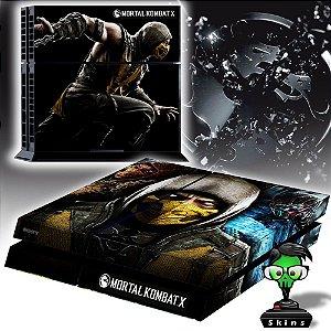 Adesivo para Console Ps4 Fat Mortal Kombat Scorpion X