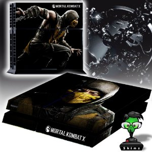 Adesivo para Console Ps4 Fat Mortal Kombat Scorpion