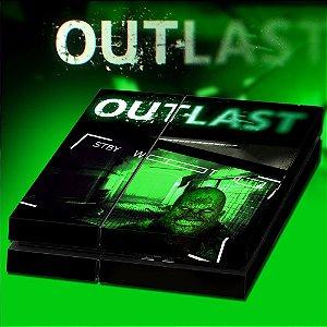 Adesivo para Console Ps4 Fat Outlast