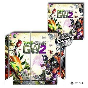 Adesivo para Console Ps4 Fat Plants VS Zombies 2
