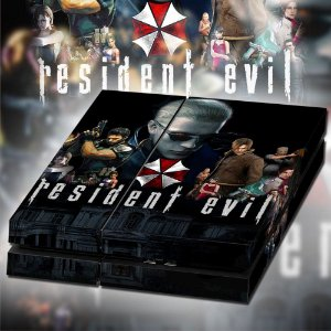 Adesivo para Console Ps4 Fat Resident Evil 1