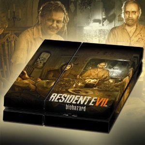 Adesivo para Console Ps4 Fat Resident Evil 7