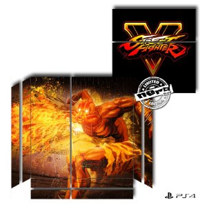 Adesivo para Console Ps4 Fat Street Fighter Dalsin 2