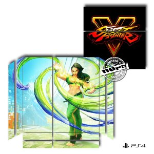 Adesivo para Console Ps4 Fat Street Fighter 13