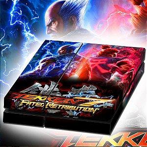 Adesivo para Console Ps4 Fat Tekken 7