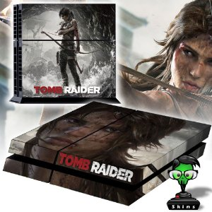 Adesivo para Console Ps4 Fat Tomb Raider Lara Croft 2