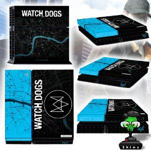Adesivo para Console Ps4 Fat Watch Dogs