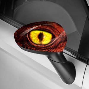 Adesivo para Envelopamento de Retrovisor Dragon Eye Red