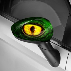 Adesivo para Envelopamento de Retrovisor Dragon Eye Green