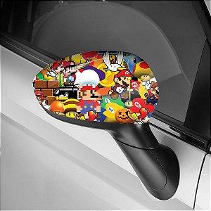 Adesivo para Envelopamento de Retrovisor Mario Bros 1