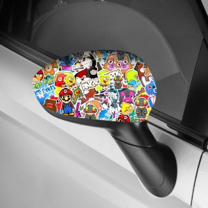 Adesivo para Envelopamento de Retrovisor Sticker Bombs 2