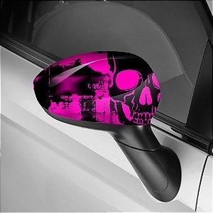 Adesivo para Envelopamento de Retrovisor Skull Pink 2