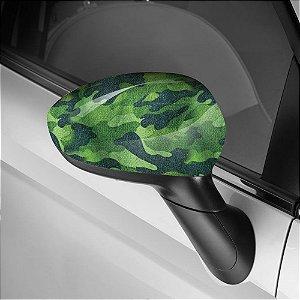 Adesivo para Envelopamento de Retrovisor Camuflado Verde