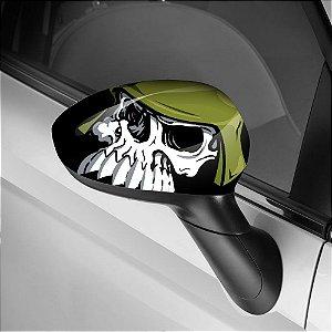Adesivo para Envelopamento de Retrovisor Skull