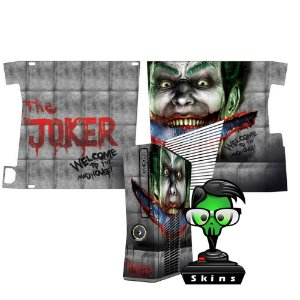 Skin Console XBOX 360 Slim Joker mod 01