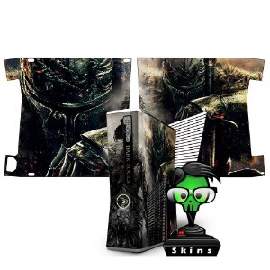 Skin Console XBOX 360 Slim Dark Souls