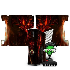 Skin Console XBOX 360 Slim Diablo 3