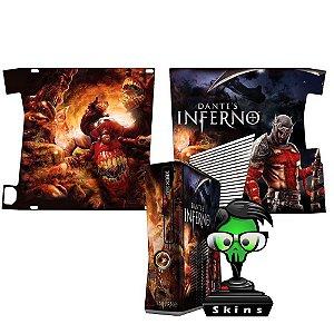 Skin Console XBOX 360 Slim Dantes Inferno