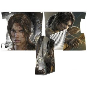 Skin Console XBOX 360 Slim Tomb Raider Mod 03
