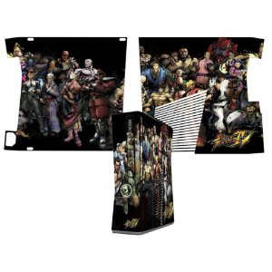 Skin Console XBOX 360 Slim Street Fighter Mod 04