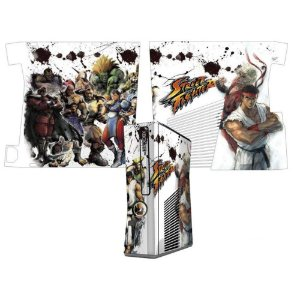 Skin Console XBOX 360 Slim Street Fighter Mod 06