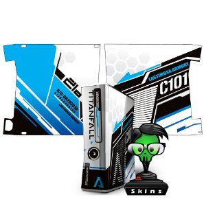 Skin Console XBOX 360 Slim Titanfall Blue