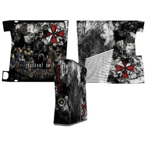Skin Console XBOX 360 Slim Resident Evil mod 2
