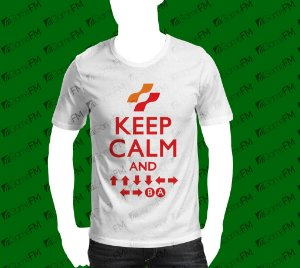 Camisa Keep Calm Konami Code