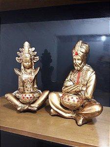 Casal hindu Deus o Auri e Skati a Deus da Fortuna 30cm