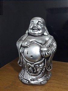 Buda do pote de ouro metalização prata