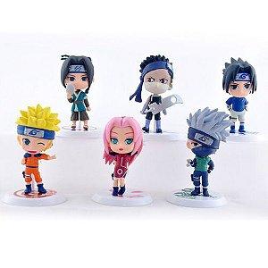 Naruto -  6 Bonecos coleção Starter - Naruto, Sakura, Sasuke, Kakashi, Zabuza, Haku  - MugenMundo