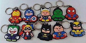Chaveiros Marvel DC Vingadores Spiderman Superman Hulk Batman - MugenMundo