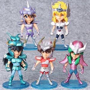 Cavaleiros Do Zodíaco - Coleção de Bonecos Com 5 bonecos  - MugenMundo