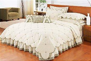 bd519c3713 Colcha edredon de casal branca com onça e quatro fronhas e duas almofadas
