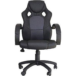 Cadeira Office Racer Preto e Cinza