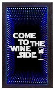 Quadro Porta Rolha Pequeno Infinito LED Wine Side  (1019)