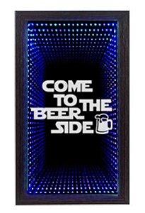 Quadro Porta Tampinha Grande Infinito LED Beer Side (1016)