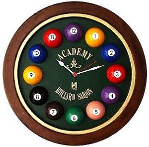 Relógio de Parede Decorativo Academy Billiard (714)