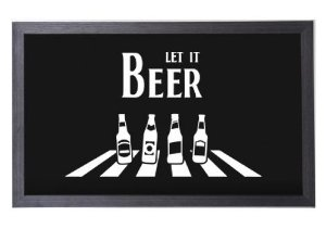 Quadro Porta Tampinha Preto Grande Estampado Let it Beer (1040)