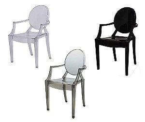Cadeira de Jantar Sofia Ghost Transparente Translúcida OR1106