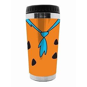 Copo Térmico Hanna Barbera Fred Flinstones Laranja 500ml (28276)