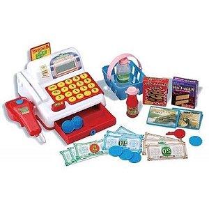 Caixa Registradora Delux Com Acessórios Infantil Mundi Toys