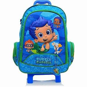 Mochila de Rodinhas Mochilete Escolar Nickelodeon Bubble Guppies Azul DMW (19587)