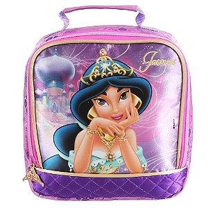 Lancheira Térmica Disney Princesas Jasmine Rosa/Roxa Dmw 48741
