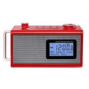 Rádio Relógio Digital R5 Vermelho Teac