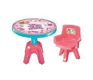 Mesa E Cadeira Baby Alive Rosa Infantil