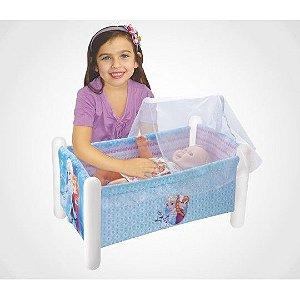 Berço Para Boneca Frozen Infantil Com Travesseiro Líder