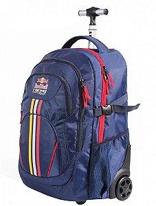 Mochila de Rodinhas Mochilete Escolar Red Bull Racing Azul (48801)