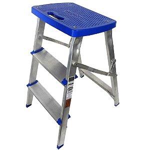 Escada Banqueta Em Alumínio Mor 3 Degraus 51079